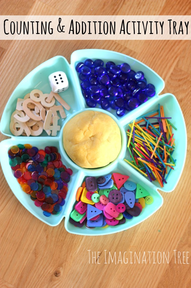 Counting and Addition Activity Tray