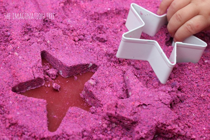 DIY moon sand activity