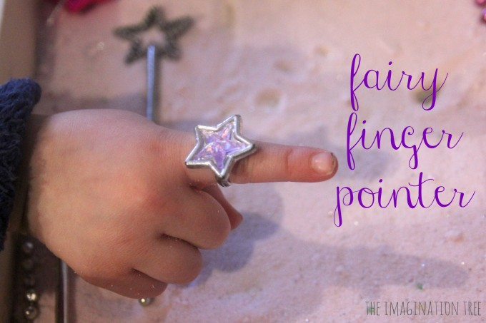 Fairy finger pointer for writing in fairy dust