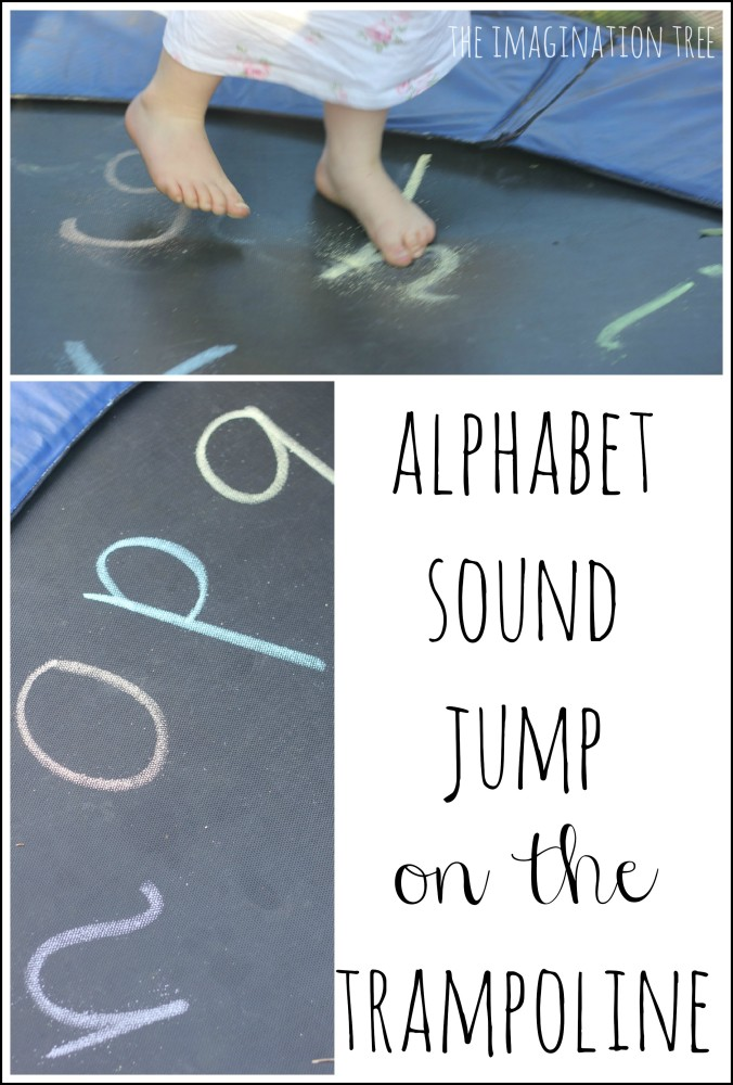 Jumping on the alphabet trampoline literacy game