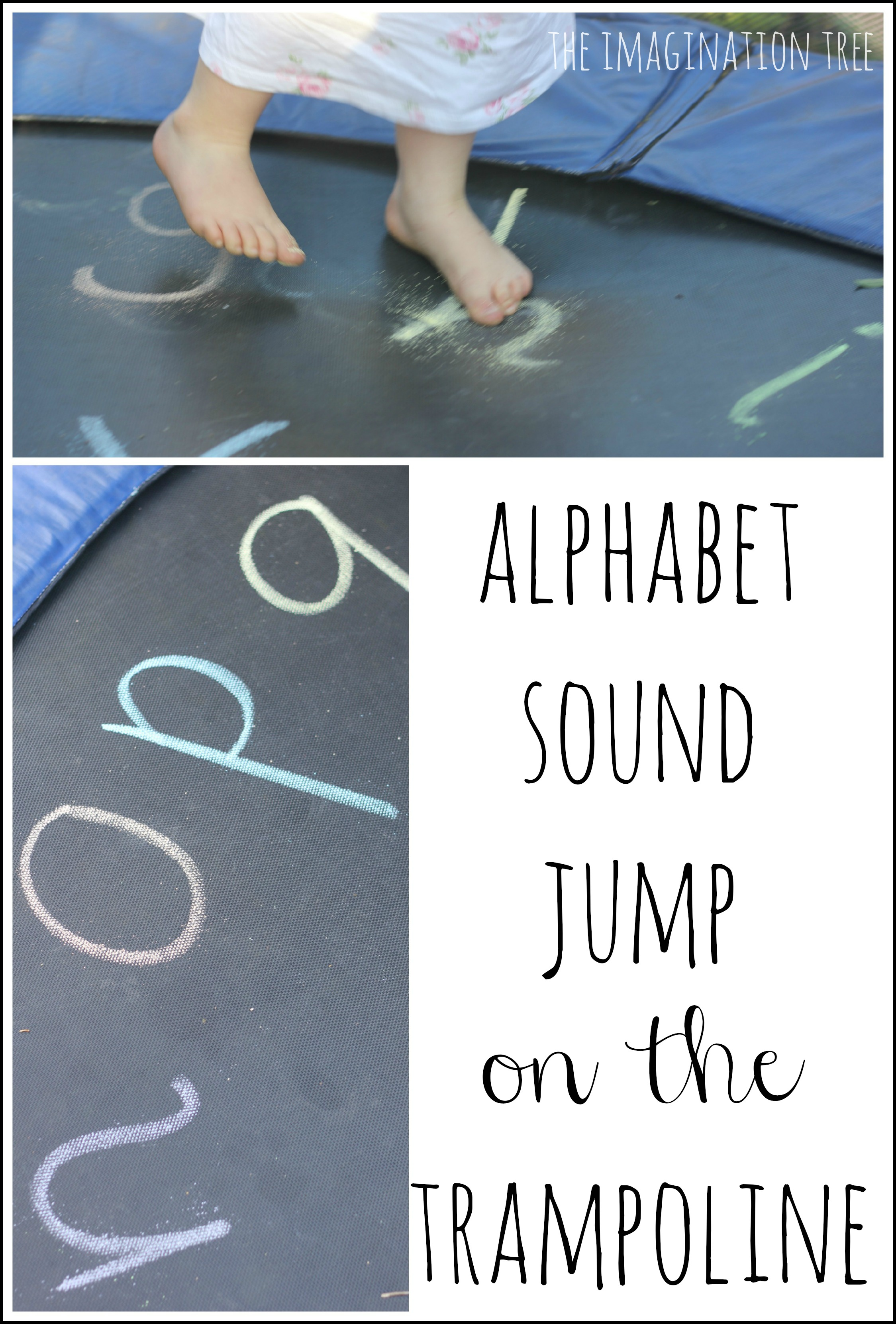 Alphabet Jump and Write on the Trampoline