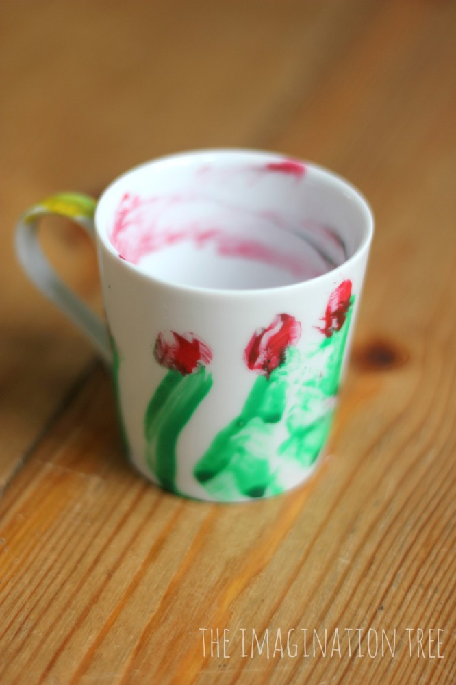 Painted espresso cup for father's day