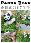 Panda Bear small world play scene for kids