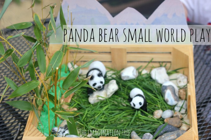 Panda bear habitat small world play