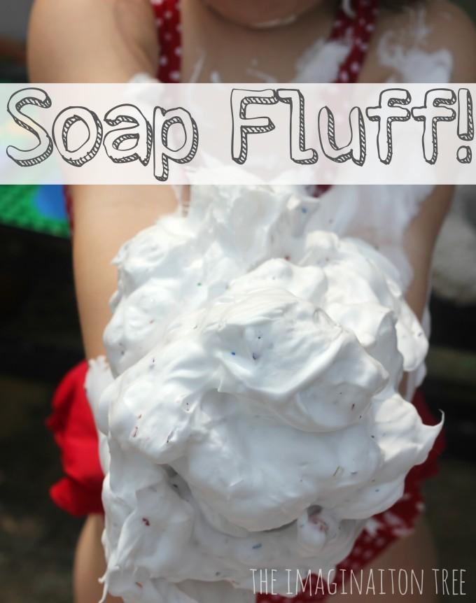 Soap Fluff Sensory Play activity