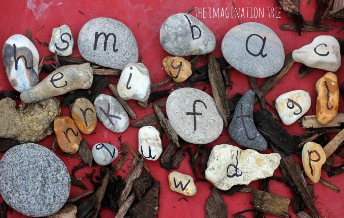 Alphabet rocks for playful literacy