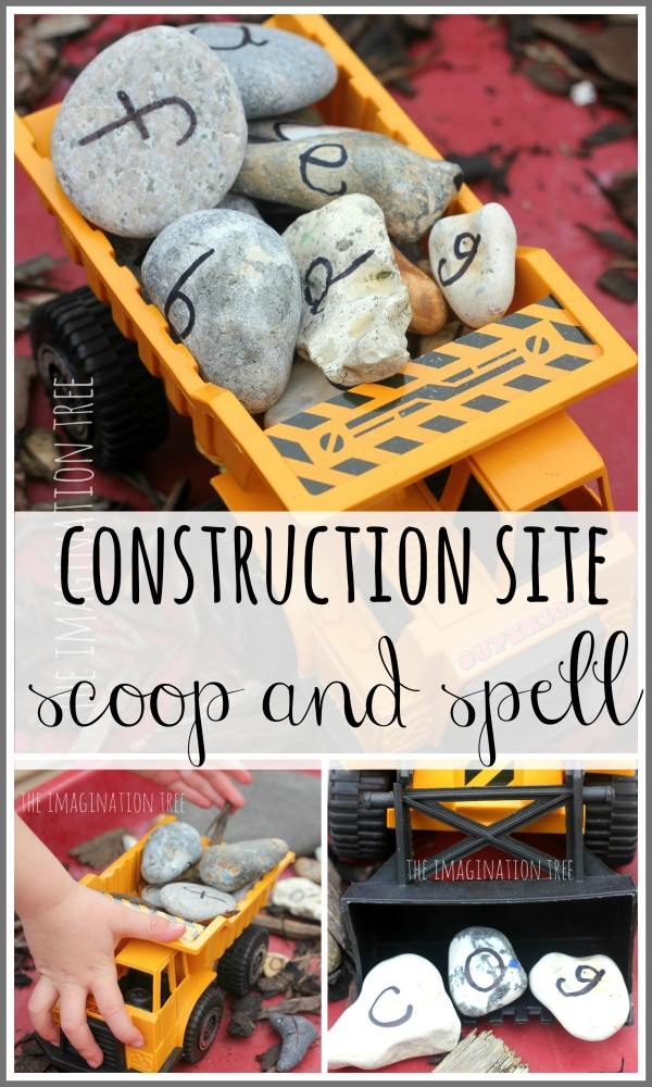 Alphabet Rocks Construction Site Activity