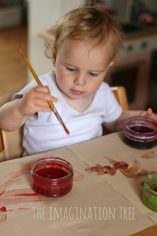 Painting with edible jello paint