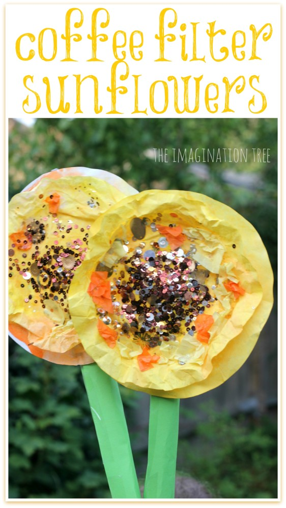 Coffee Filter Sunflowers Collage