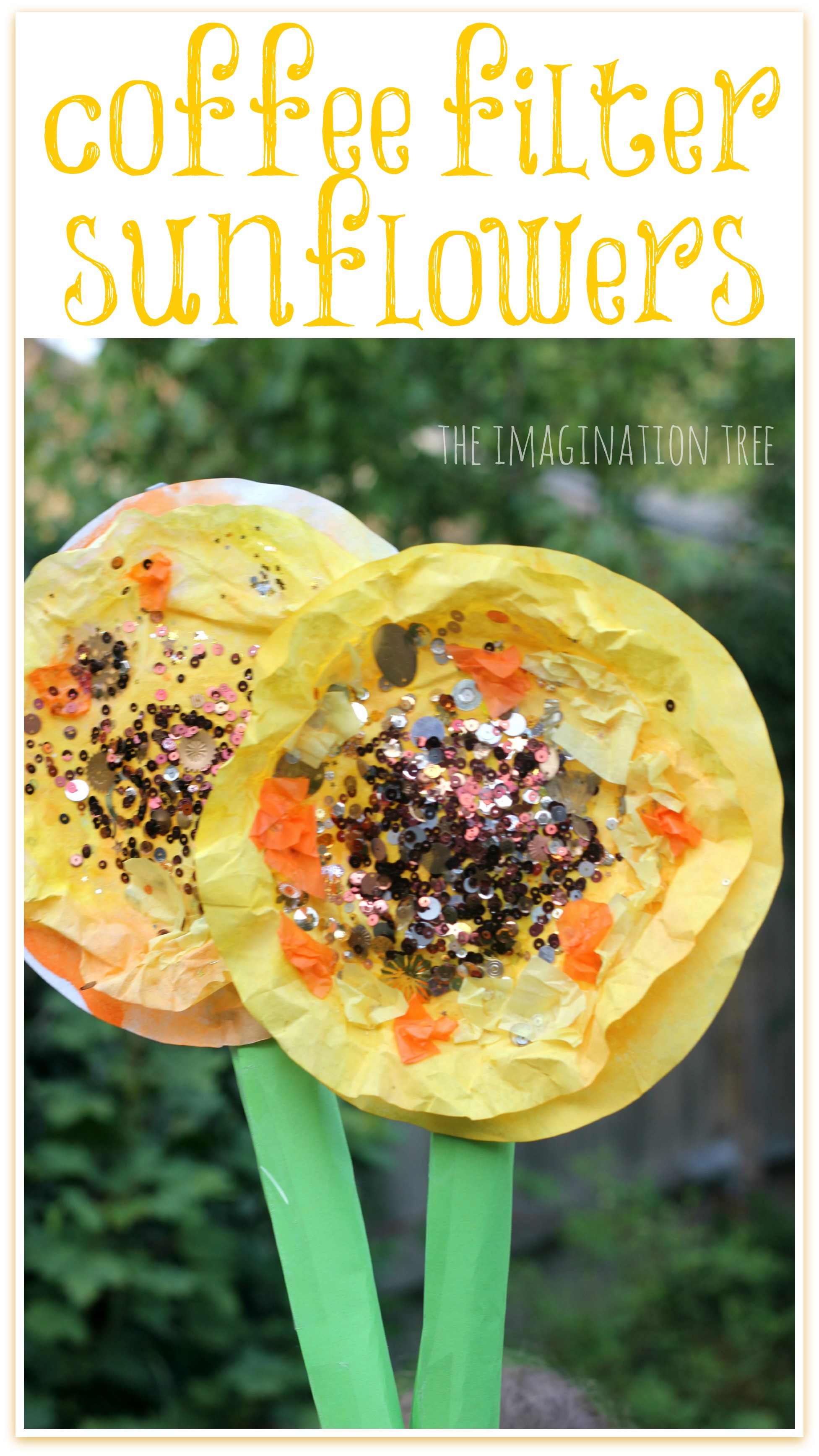 Coffee Filter Sunflowers Collage The Imagination Tree