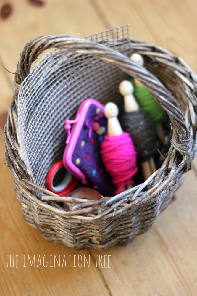 Toddler sewing basket