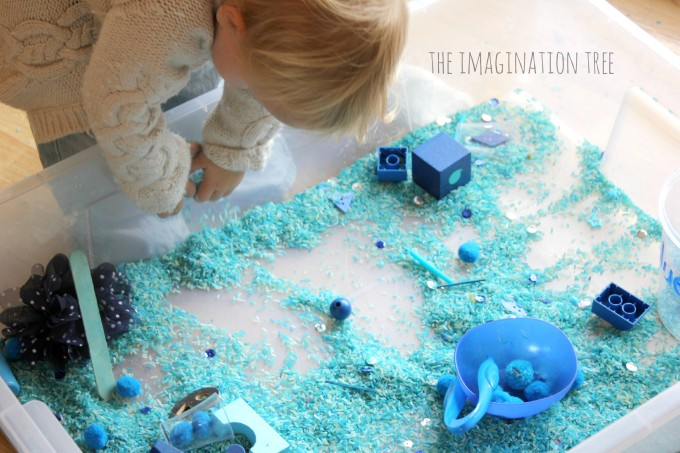 Colour sensory bin for toddlers
