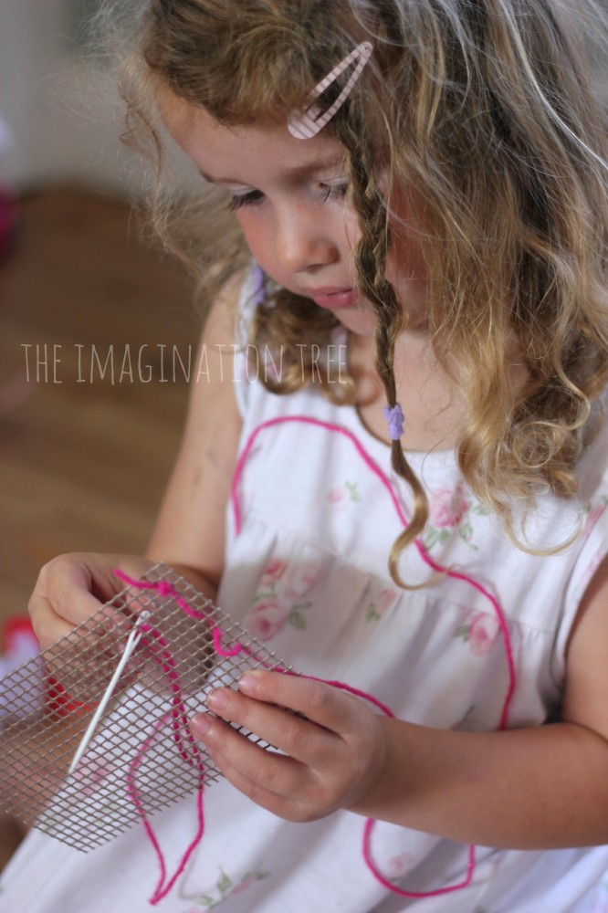 First sewing basket for kids