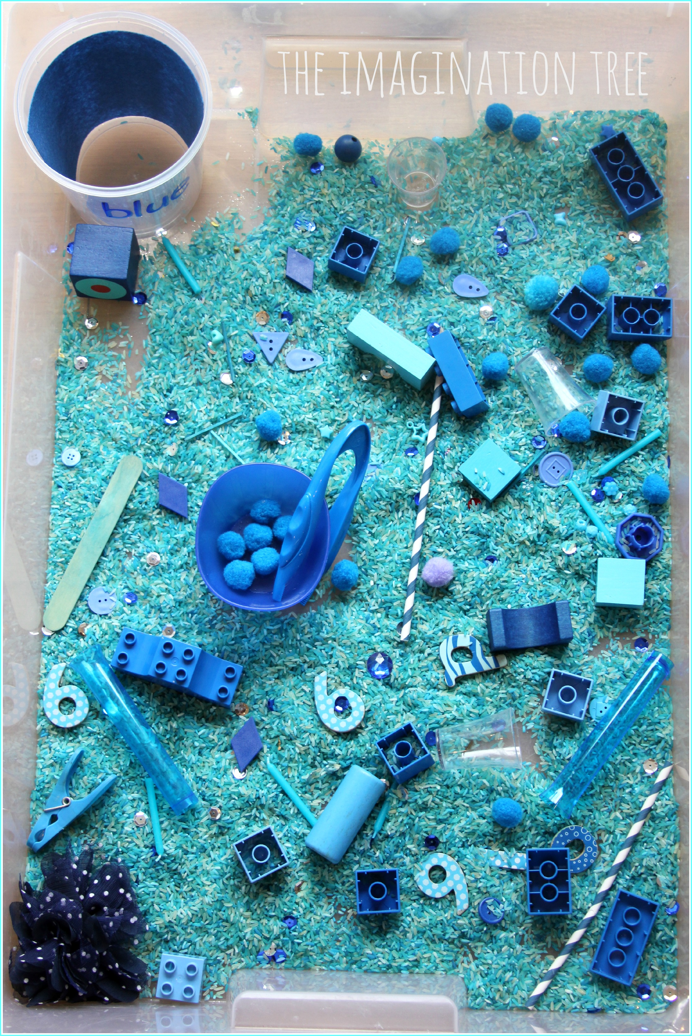 Giant colour themed sensory tub the imagination tree