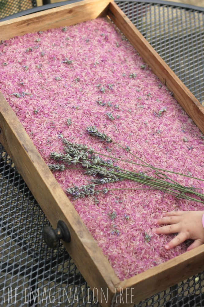 Natural scented lavender rice