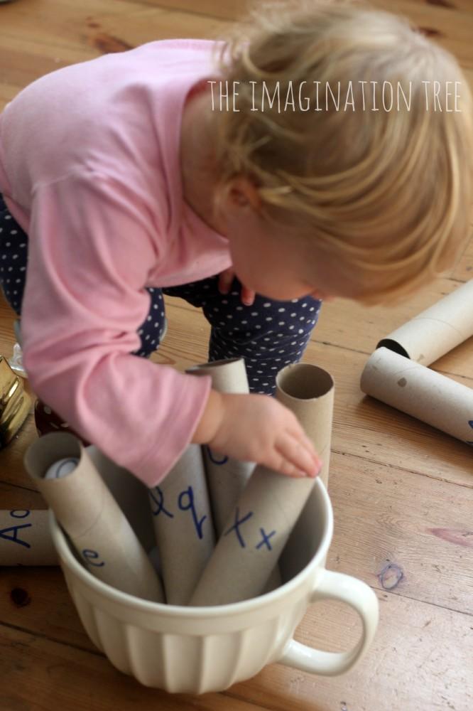 Sorting and matching alphabet balls