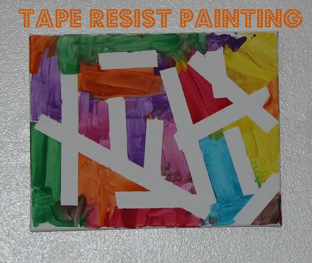 Tape Resist Art 8