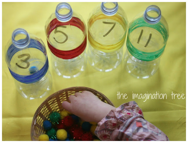 fillingbottleswithpompoms - Colour Games For Preschool