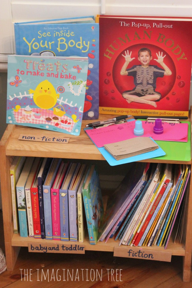 Choosing books in the role play library