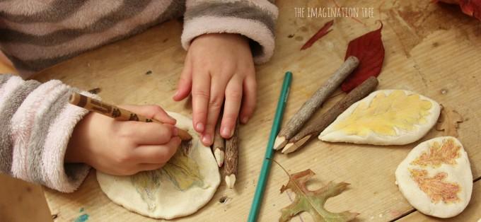 Colouring on salt dough