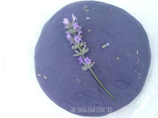 Lavender play dough recipe