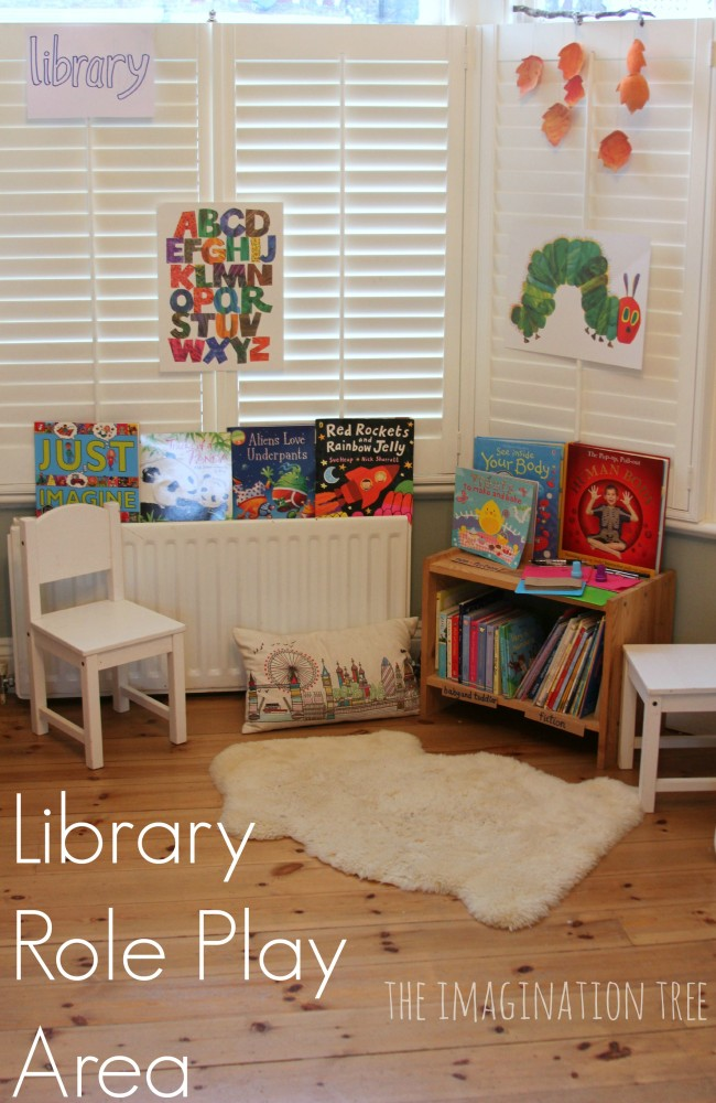Library role play for early literacy