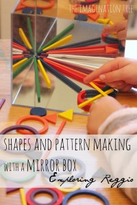 Playing with shapes and symmetry on a mirror box