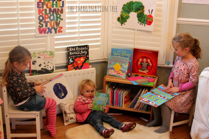 REading books in the role play library