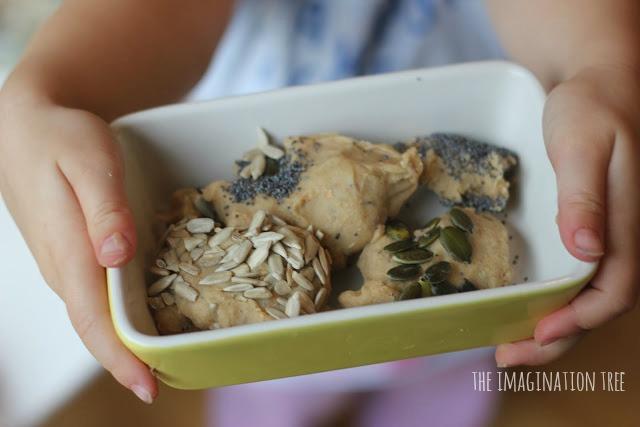 wholegrain and seeds play dough