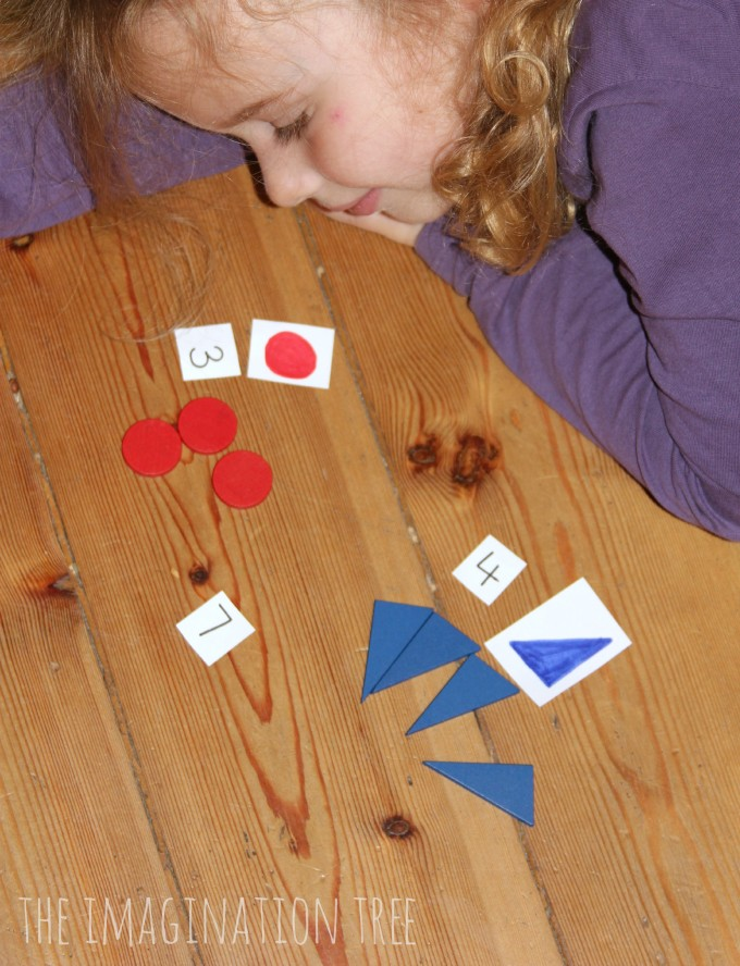 DIY number game with shapes