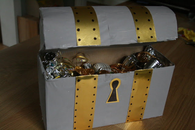 DIY pirate treasure chest