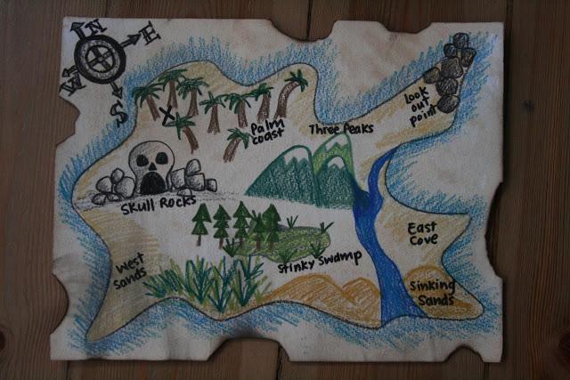 DIY pirate treasure map