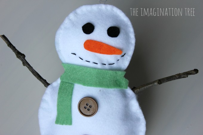 Felt stuffed snowman sewing craft