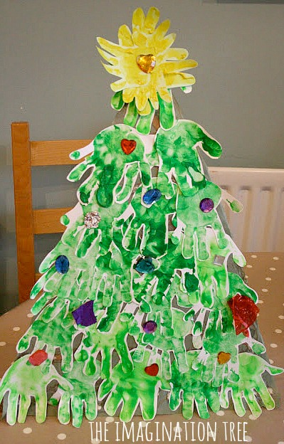 Handprint Christmas Tree  The Imagination Tree