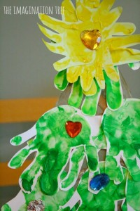 Handprint Christmas Tree activity