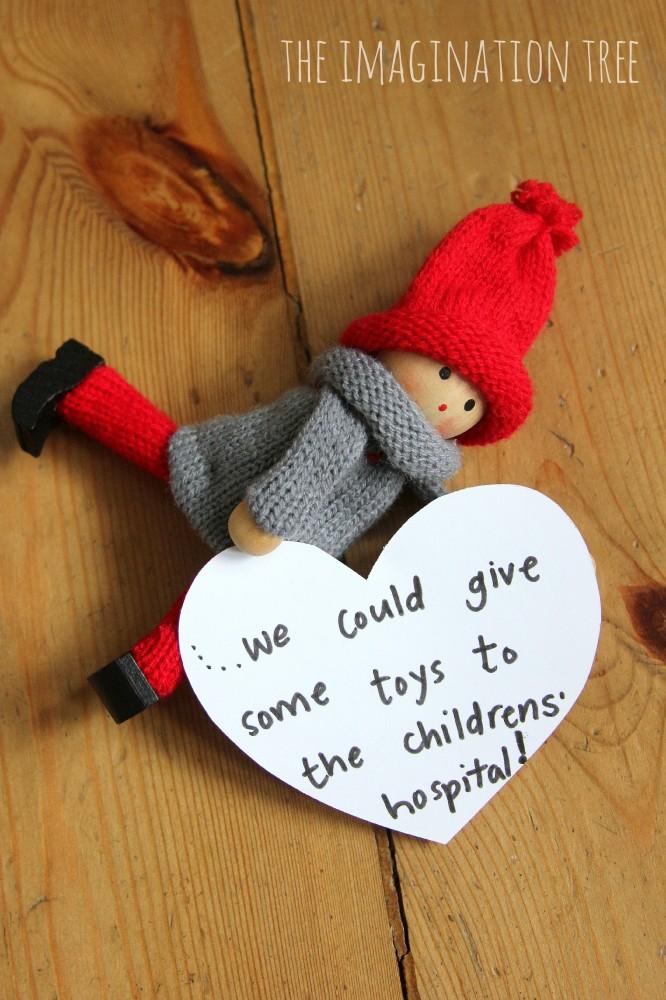 Kindness elf tradition for kids