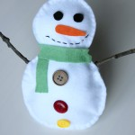 Stuffed felt snowman craft for kids