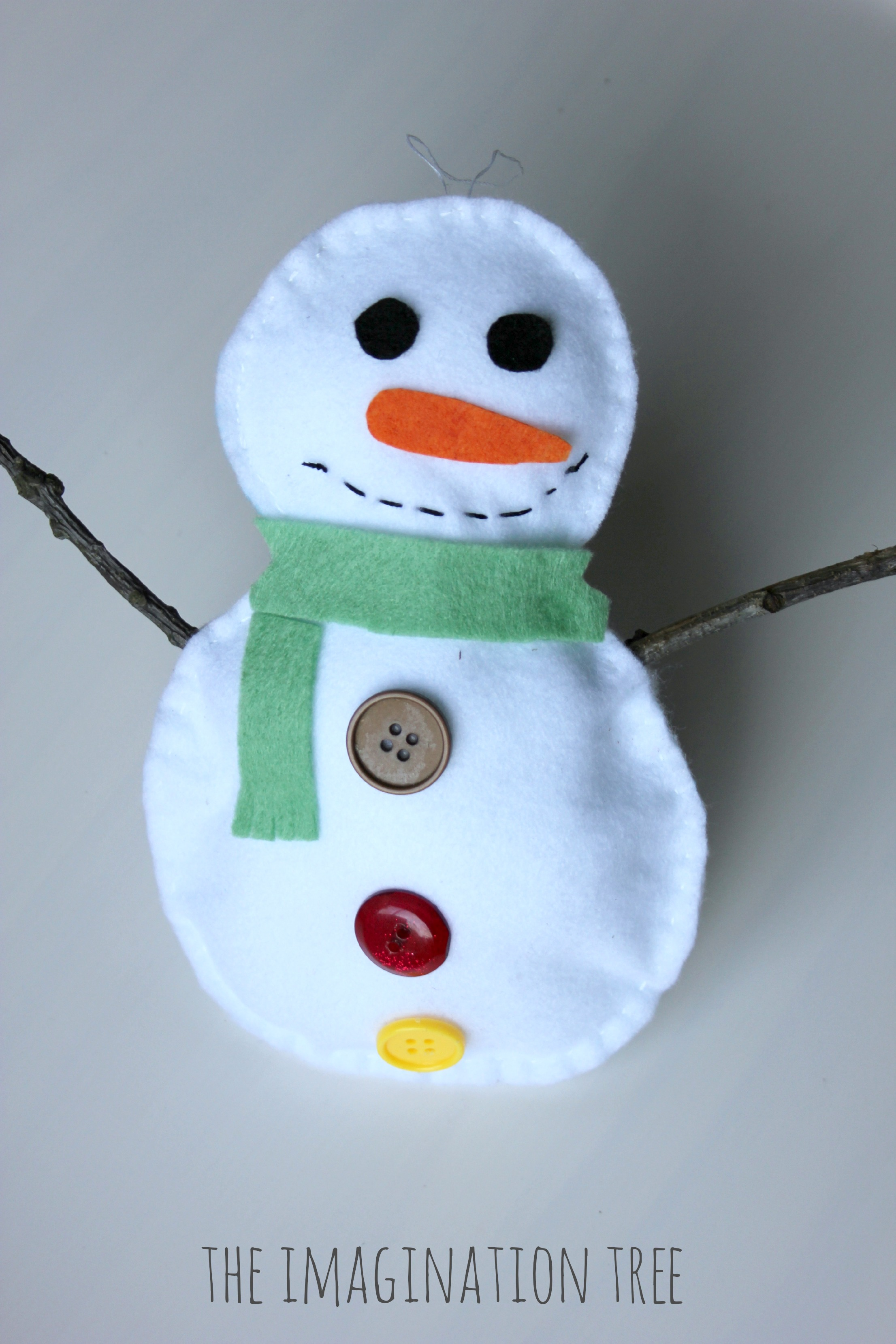 Stuffed Snowman Sewing Craft for Kids , The Imagination Tree