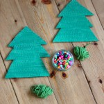 Invitation to create yarn and bead wrapped Christmas trees