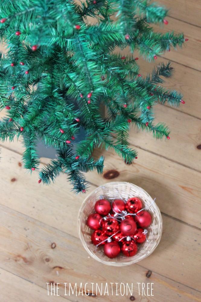 Invitation to hang alphabet tree decorations