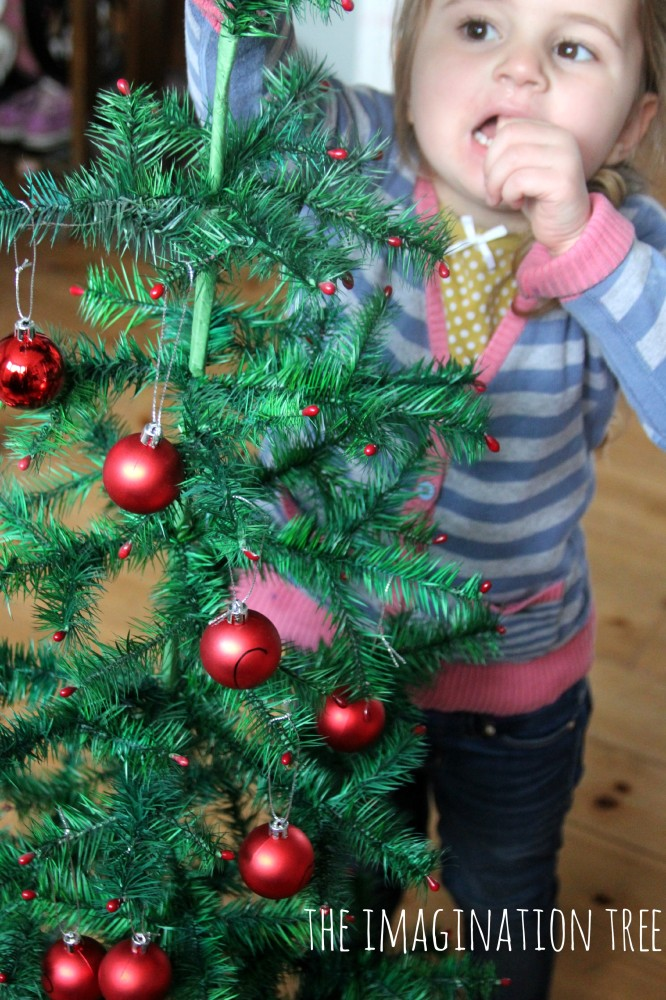 Playful literacy with alphabet tree decorations