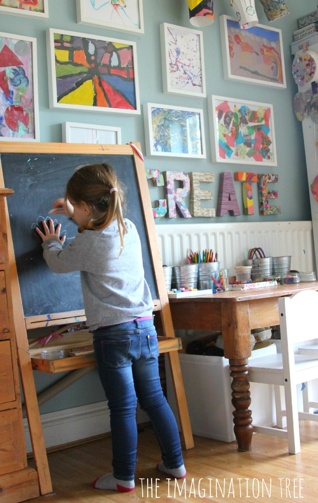 A creative area for kids
