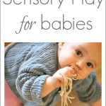 A great collection of sensory play activities for babies and toddlers!
