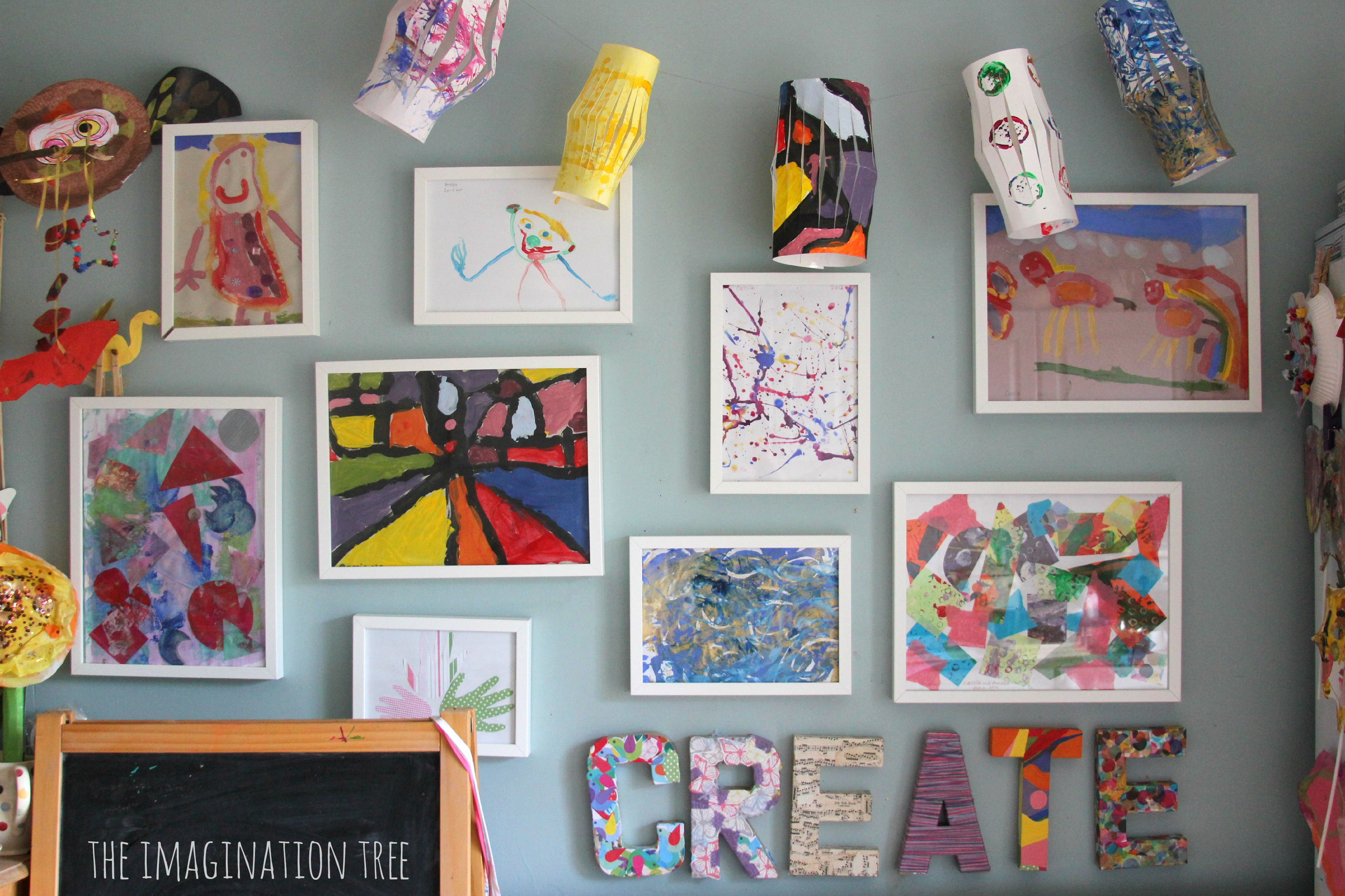 creative arts area and gallery for kids the imagination tree