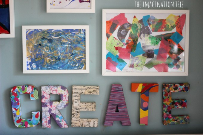 DIY wall art for the creative area