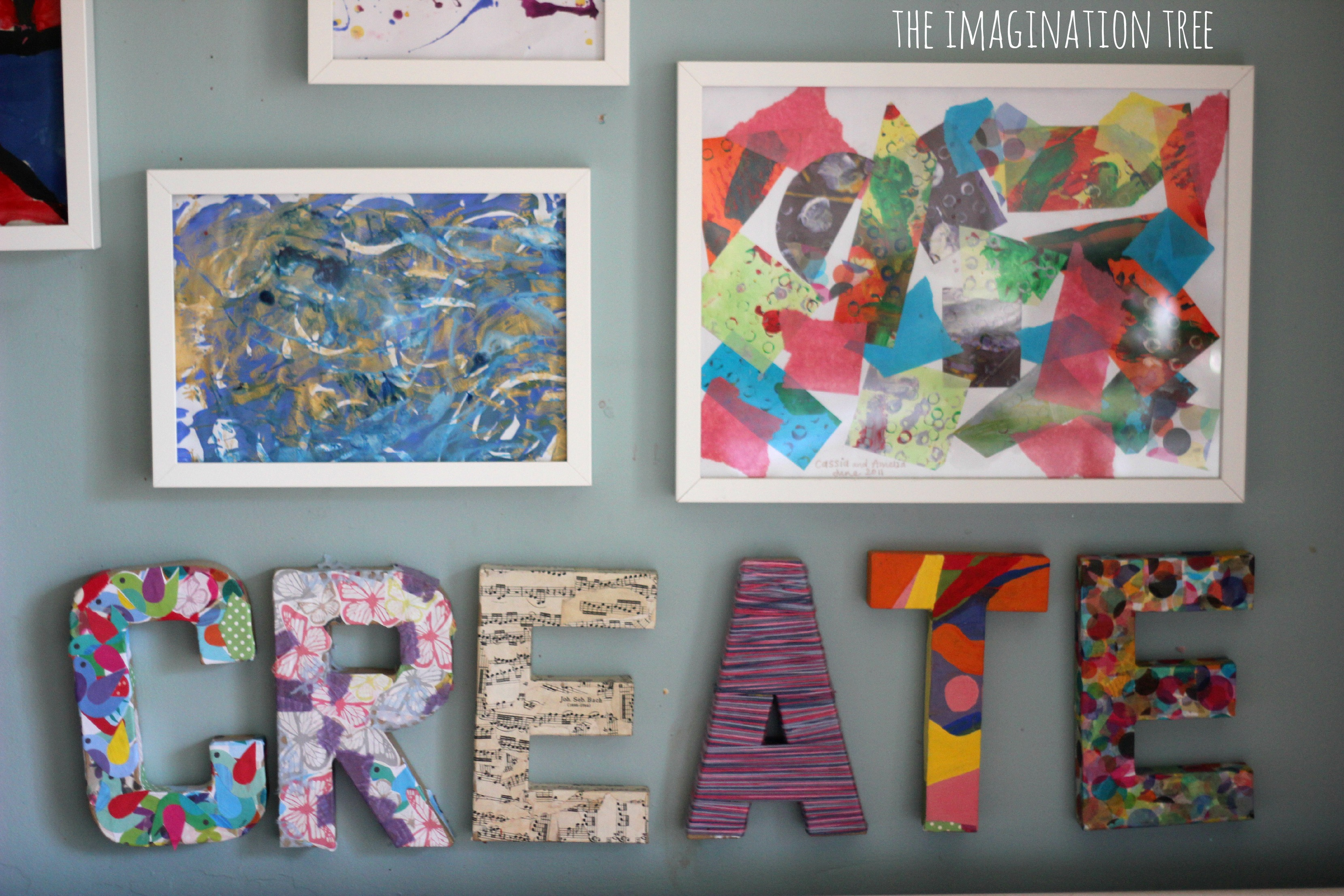 Diy Classroom Wall Decor ~ Creative arts area and gallery for kids the imagination tree