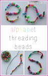 Fine motor alphabet threading beads activity
