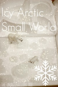 Icy Arctic Small World Play Scene