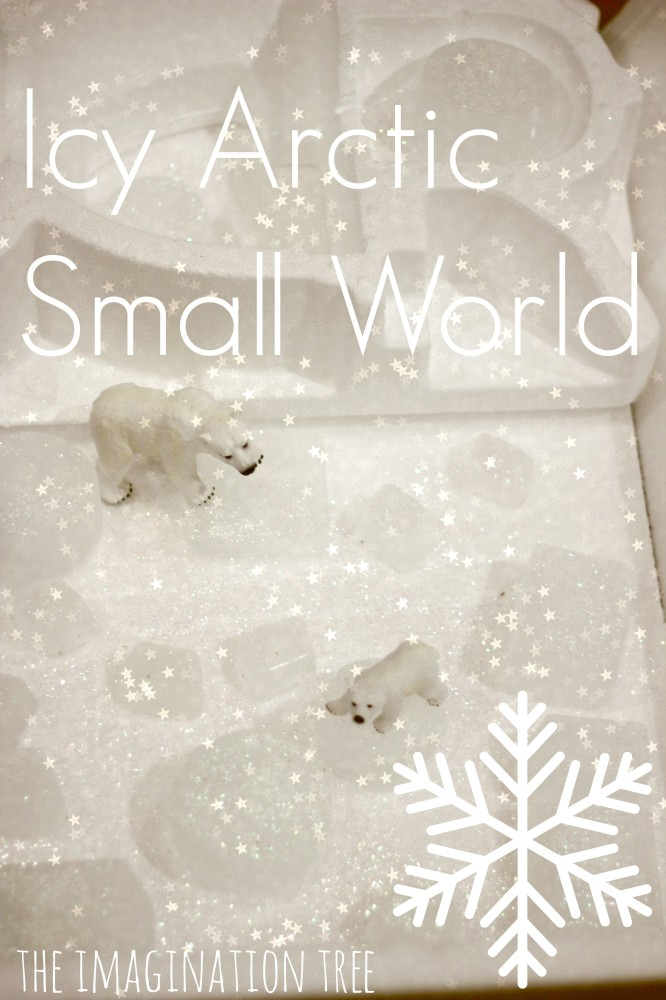 Icy Arctic Small World Play Scene