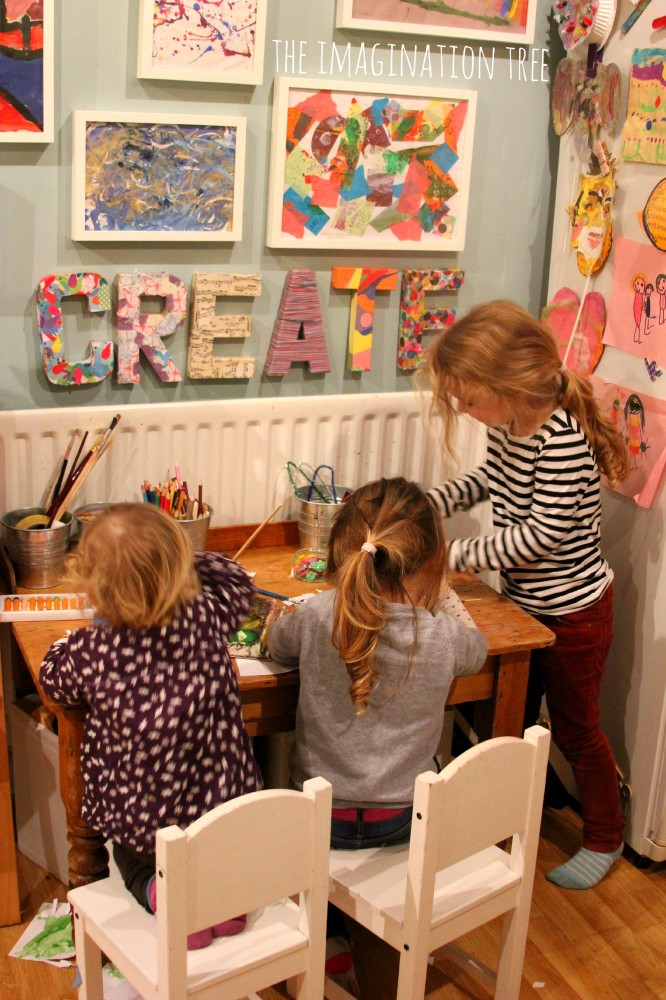Kids art and craft area